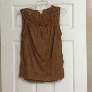 Anthropology Meadow Rue Shoestring Tank NWT